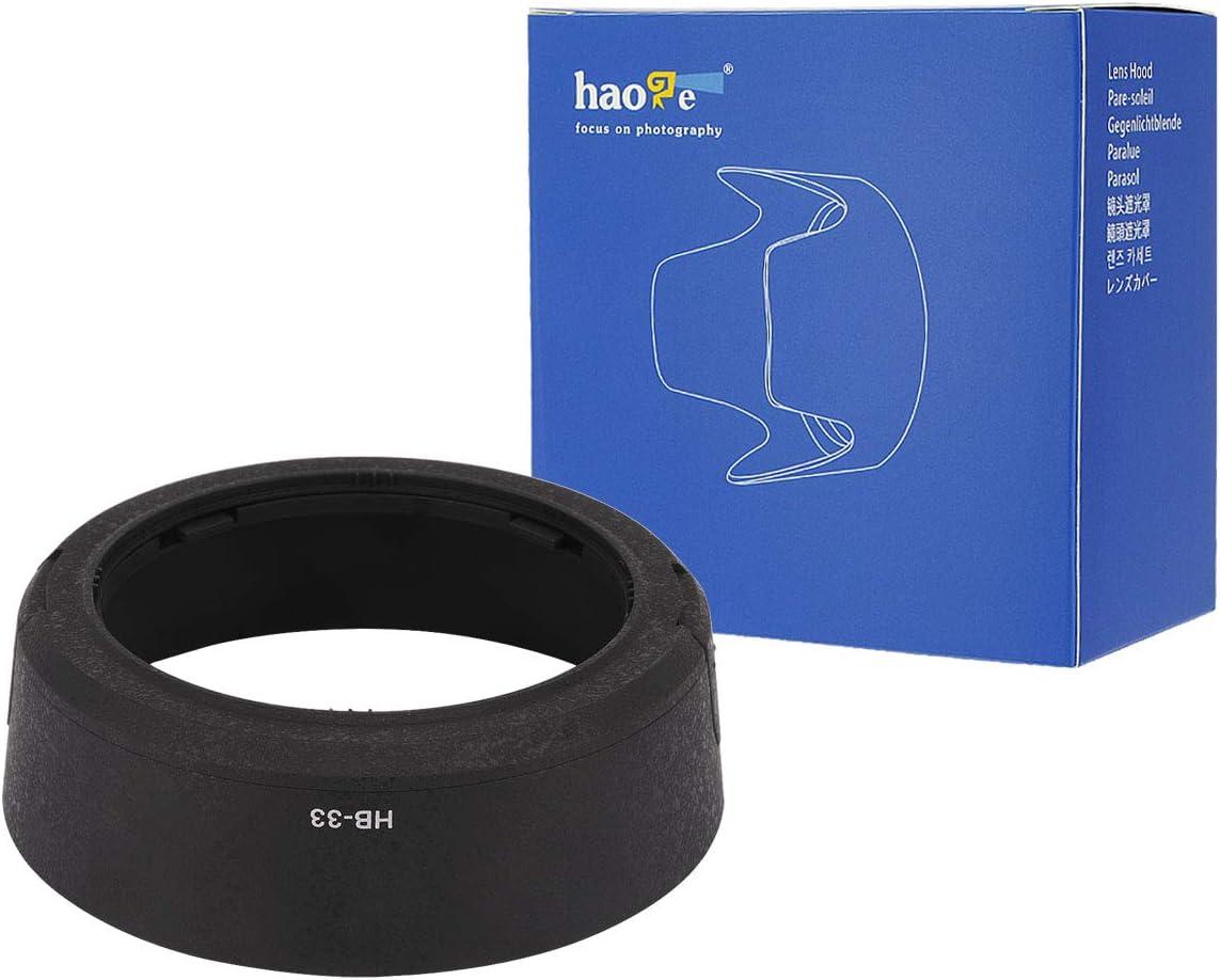 Haoge Bayonet Lens Hood for Nikon Nikkor AF-S 18-55mm f//3.5-5.6G ED DX and Nikon Nikkor AF-S 18-55mm f//3.5-5.6G II ED DX Lens Replaces Nikon HB-33