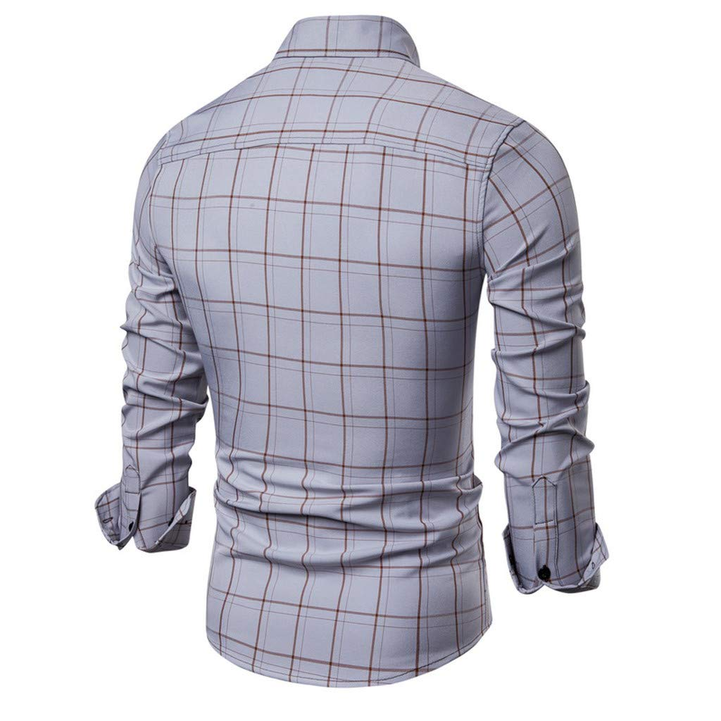 Stoota 2019 Newest Mens Pliad Top Fit Slim Blouse Business Casual Short-Sleeved Shirt