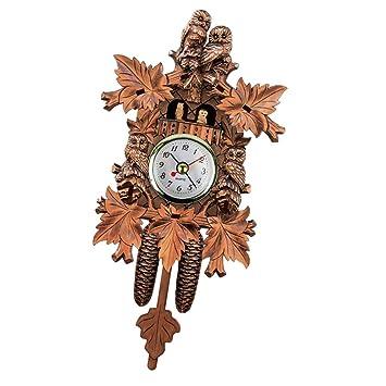 Sharplace Multicolor Reloj de Cuco de Madera Reloj Equipado con un Moderno Movimiento de Cuarzo - # 14: Amazon.es: Hogar