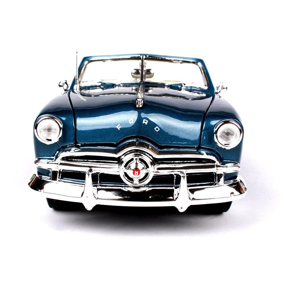 Penao Simulación Convertible de Ford de 1949 de Aleación Modelo de Coche, Coche Modelo Adornos, Ratio 1:18