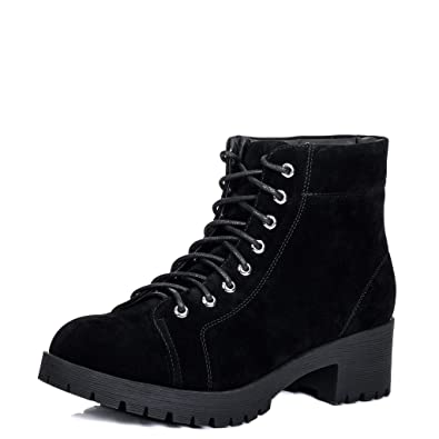 627d3012a67 Spylovebuy Bluefin Women s Lace Up Cleated Sole Block Heel Combat Worker  Walking Ankle Boots Shoes  Amazon.co.uk  Shoes   Bags