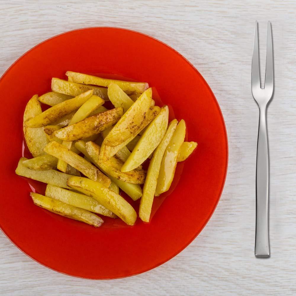 12 Piezas Vareone Peque/ños Tenedores de Carne Postre Aperitivo Pasteleria Fruta de Acero Inoxidable