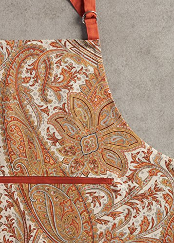 Maison d' Hermine Kashmir Paisley 100% Cotton Apron with an adjustable neck & hidden center pocket, 27.50 - inch by 31.50 - inch by Maison d' Hermine (Image #5)
