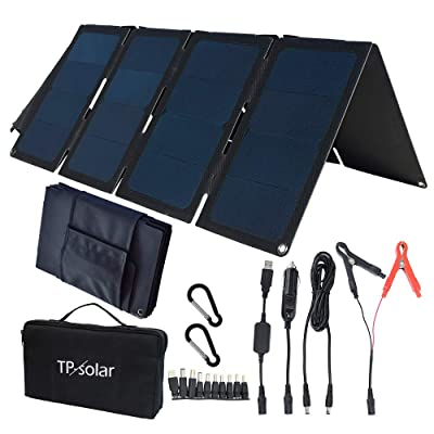 TP-solar 60W Portable Foldable Solar Panel Charger Kit Dual USB 5V + 18V DC Output for Portable Generator Power Station Cell Phone Tablet Laptop 12V RV Boat Car Battery : Garden & Outdoor