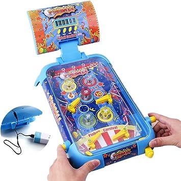 TFACR Mini Juego de Pinball de Mesa - Juego de Juguete Interactivo de Carga para niños Adultos, Regalo del Festival de cumpleaños: Amazon.es: Deportes y aire libre