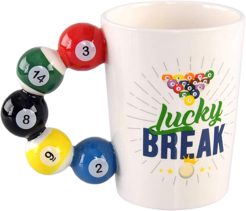 Pool ball themed mug