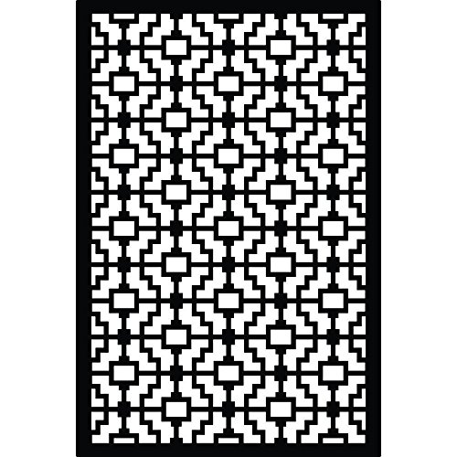 Acurio Latticeworks 1/4 in. x 32 in. x 4 ft. Black Fret V...