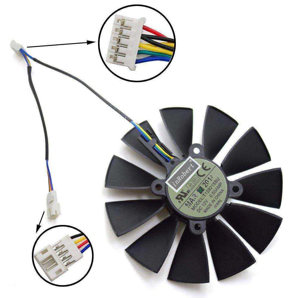 inRobert 95mm 5 pin T129215SU Cooling Fan for ASUS R9 280 280X 290 290X GTX 780 Ti Graphics Card Fan-A