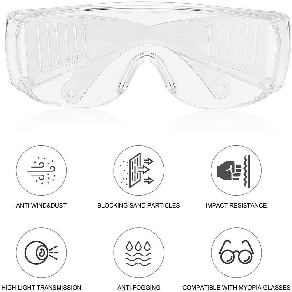 gafas antivaho para herramientas de laboratorio. ara/ñazos y manijas antideslizantes Protecci/ón ocular Gafas de seguridad con gafas transparentes protecci/ón UV ara/ñazos