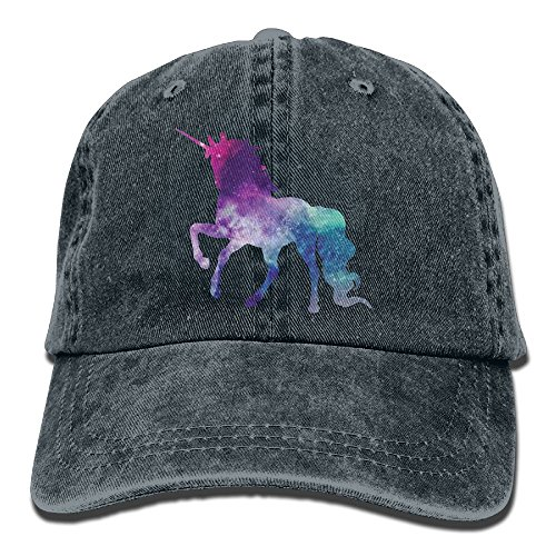 Qbeir Galaxy Unicorn Adjustable Adult Cowboy Cotton Denim Hat Sunscreen Fishing Outdoors Retro Visor Cap for $<!--$9.50-->