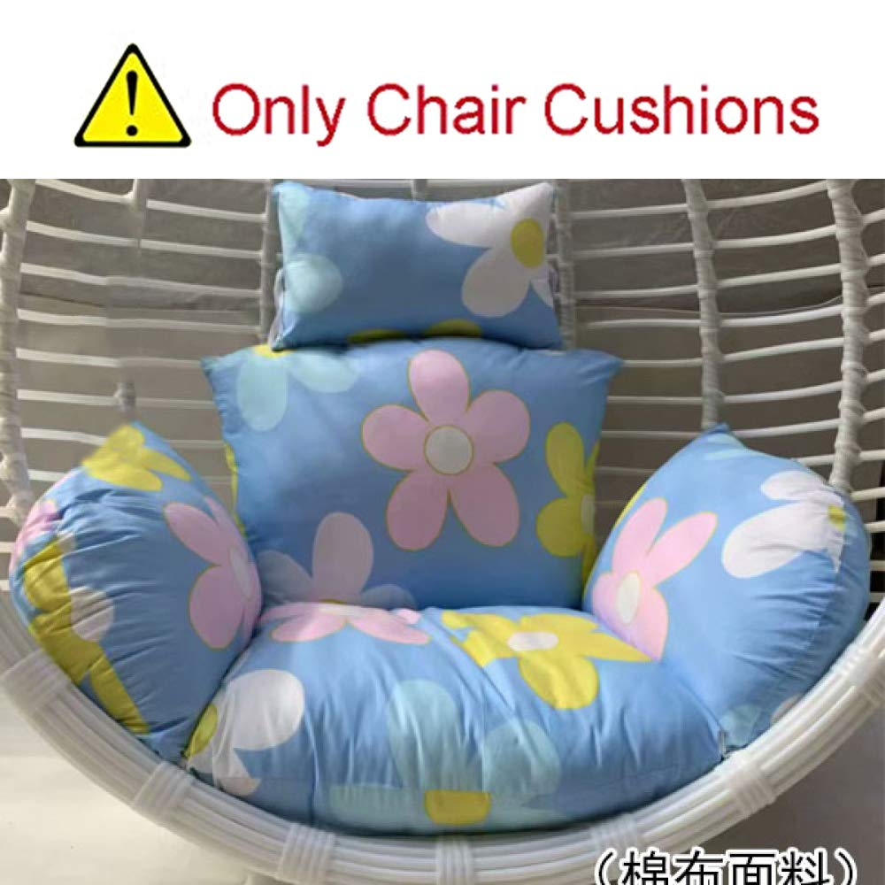MonthYue Hanging Egg Hammock Chair Pads, Cotton Fabric Comfortable Relaxing Thick Nest Hanging Chair Back Multi Color Hammock Pad Non-Slip,B by MonthYue