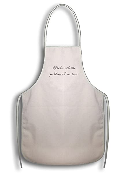 Style In Print Hooker With Bike Pedal Ass All Over Town Cotton Duck Canvas Artist Apron