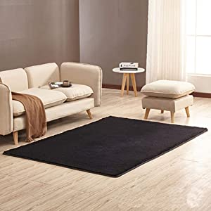 Simple Modern Short Fluffy Carpet Bedroom Full of Cute Living Room Coffee Table Sofa Tatami