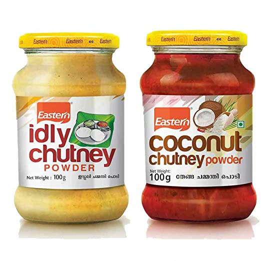 Eastern Idli Chutney Powder (100g) x 2, Coconut Chutney Powder (100g) x2 ( Pack of 4)