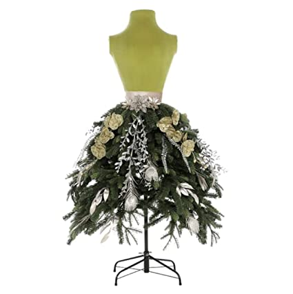 7dca15bb559d Image Unavailable. Image not available for. Color: Holiday 5 ft Unlit Green  Lady Dress Form Christmas Tree Mannequin Store Front Commercial Display
