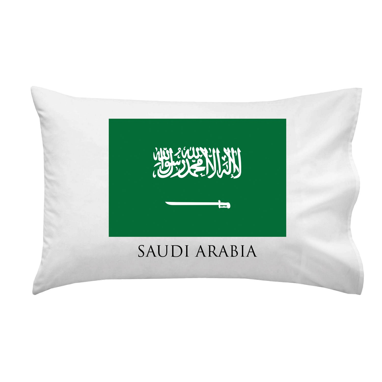 Saudi Arabia - World Country National Flags - Pillow Case Single Pillowcase by Hat Shark