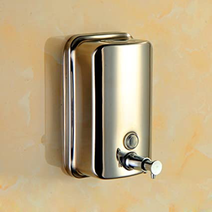 LyMei Dispensador de Jabón Líquido dispensador de Jabón de Pared de Acero Inoxidable 304, dispensador