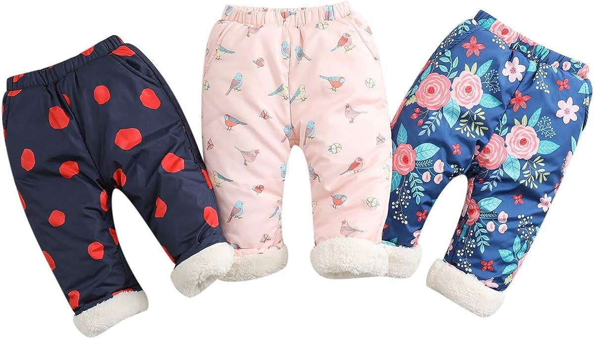 marc janie Little Girls Winter Fleece Lined Pants