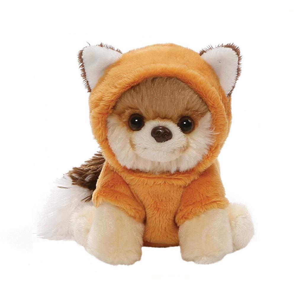 "GUND World's Cutest Dog Itty Bitty Boo #50 Fox Plush 5"" Stuffed Animal, Red"