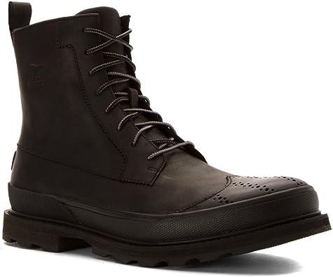Sorel Madson Wingtip Boot Black: Amazon