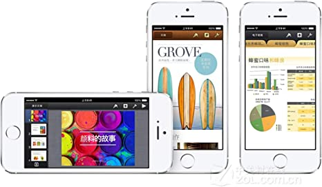 Original AppleiPhone Compatible Mobile Apple iPhone 5S 16GB 32GB 64GB Silver Gold Space Gray (Silver, 64GB)