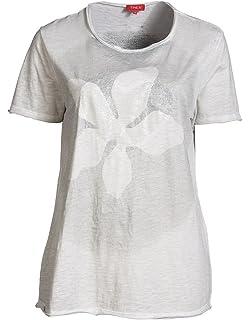 716006ec7be7 THEA Damen Druckshirt Rundhals Schwarz Große Größen - Bluse Damen, Spitze,  Print