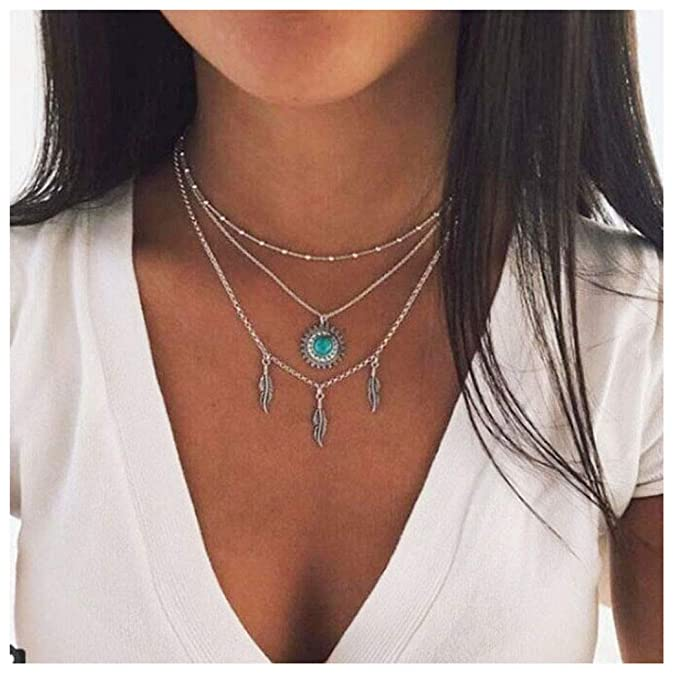 Gift for Women Southwestern style Boho chic style,Gift for mom Color Neon,Rainbow Necklaces African Ethnic Necklace Unusual Pendant