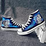 Telacos Attack on Titan Shingeki No Kyojin Wings of Freedom Cosplay Shoes Canvas Shoes Sneakers Luminous