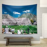 wall26 - Soccer Match on the Stadium Crowd People in the Light Day - Fabric Wall Tapestry Home Decor - 68x80 inches