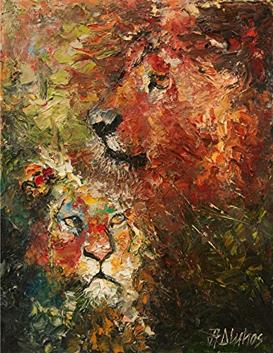 (SOLD) Kaitiaki ❤ - NEW FOR 2019 The pride guardian lion by internationally renown painter Andre Dluhos