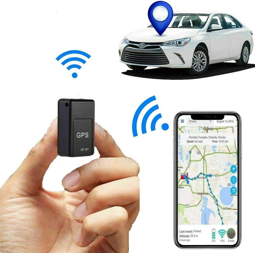 Mini-Ortungsger/ät f/ür versteckte Autos Magnetic Gf07 Mini GPS Echtzeit-Auto-Ortungs-Tracker Anti-Verlust-Diebstahl-Ger/ät Motorrad-LKW-Ortung
