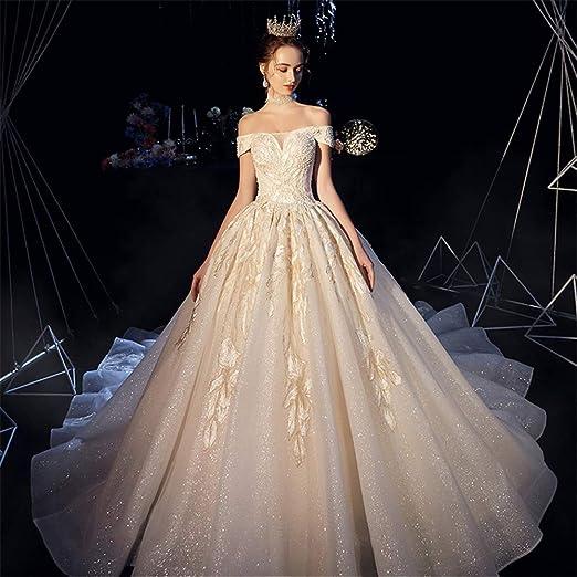 Owenyang Vestido de Novia Vestido Vestido de Noche de la Boda de ...