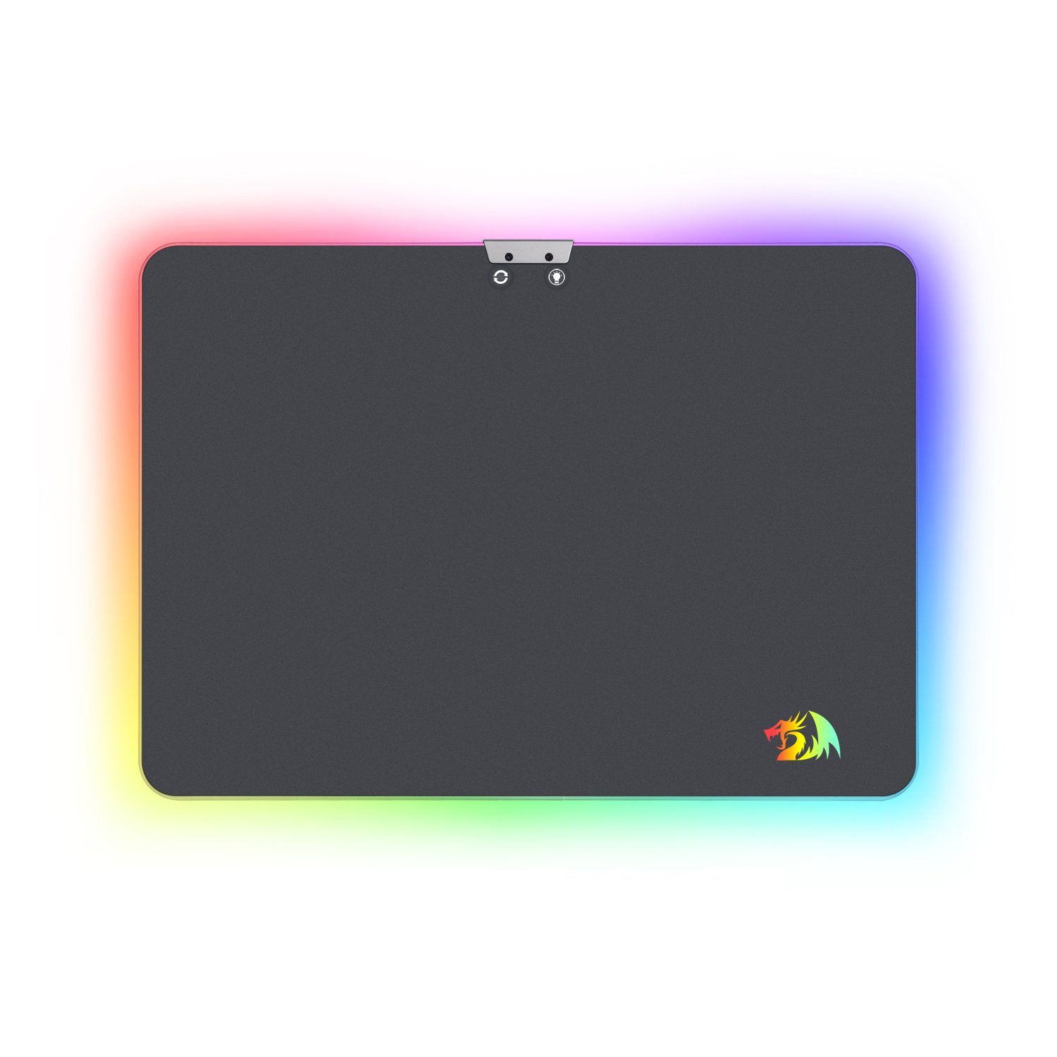 RGB Mouse Pad, P010 Aurora, Wired RGB LED Gaming Mouse Pad, Hard Non-Slip Rubber Surface Mouse Mat, 16.8 Million Colors, Optimized For All Computer Mouse Sensitivity MMO and Sensors By Redragon