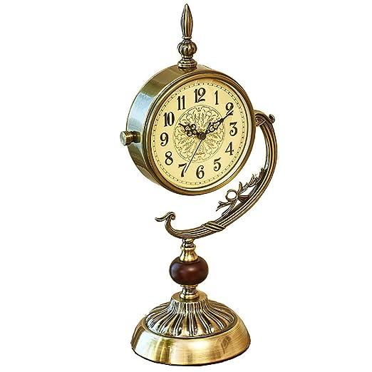 GongDi Reloj de Mesa Cerradura decoración habitación Retro Mudo ...