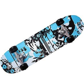 Skateboard - diseño - ABEC 7 Atlantic Rift - amortiguador de PU + PU de los rodamientos de ruedas de selección de colour azul: Amazon.es: Deportes y aire ...