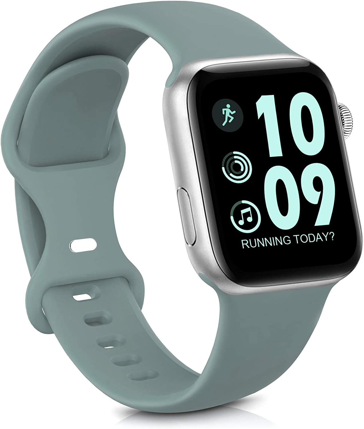 GeekSpark Sport Band Compatible with Apple Watch Band 38mm 40mm for Women Men, Soft Silicone Replacement Strap Band for iwatch SE/Series 6/5/4/3/2/1 Cactus 38mm/40mm S/M