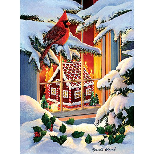 Bits and Pieces - 500 Piece Jigsaw Puzzle for Adults - Gingerbread House - 500 pc Christmas Holiday Winter Jigsaw by Artist Russel -