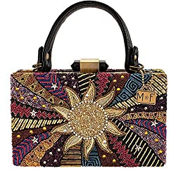 Beaded Multicolored Handle Handbag