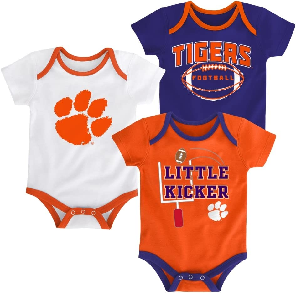 Outerstuff Clemson Tigers 3 Points Baby//Infant 3 Piece Creeper Set
