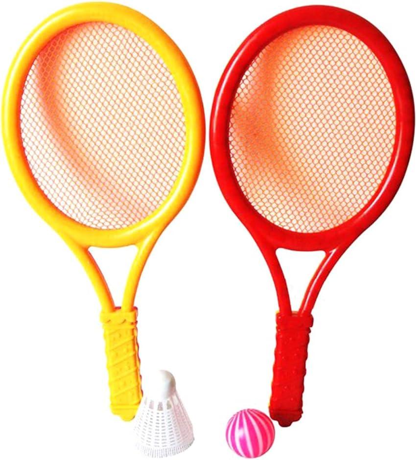 Pywee Juego de Raquetas de Tenis de bádminton para niños, Juguetes educativos para Padres e Hijos, Juguetes educativos para bebés, Deportes al Aire Libre para bebés