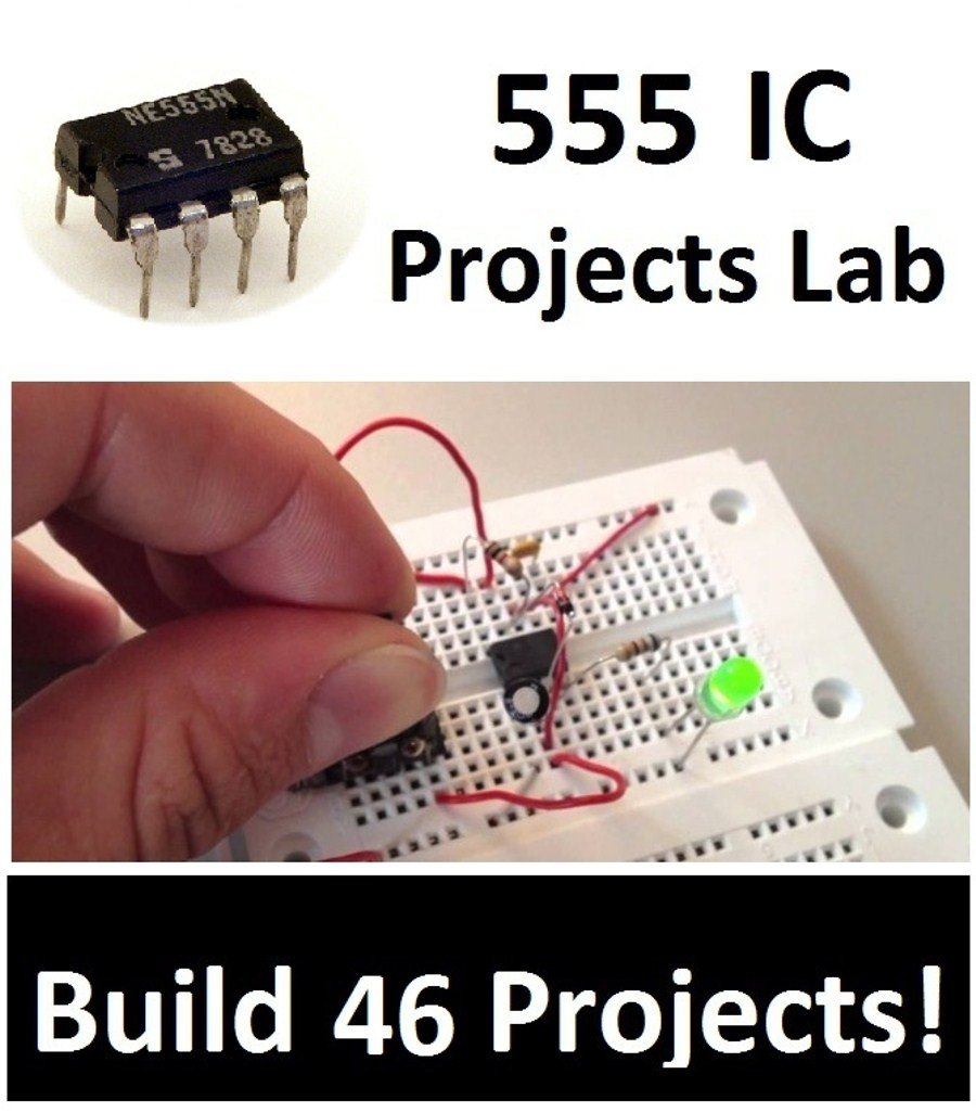 555 Timer Ic Projects Lab 46 Electronic Hobby Ne555 Circuit School College Academic Epk040 Toys Games
