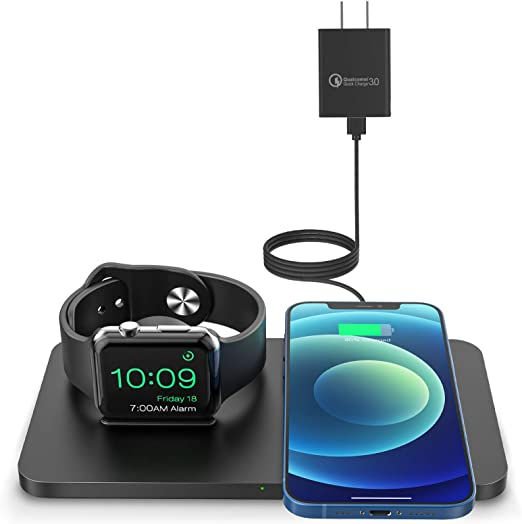Fast Charging Bundle Compatible with Android and Other Platforms beemZ 3-in-1 Charging Cable with QI Car Charger and QI Wall Charger USB C//Micro//Nylon Cable with 360-Degree Rotation