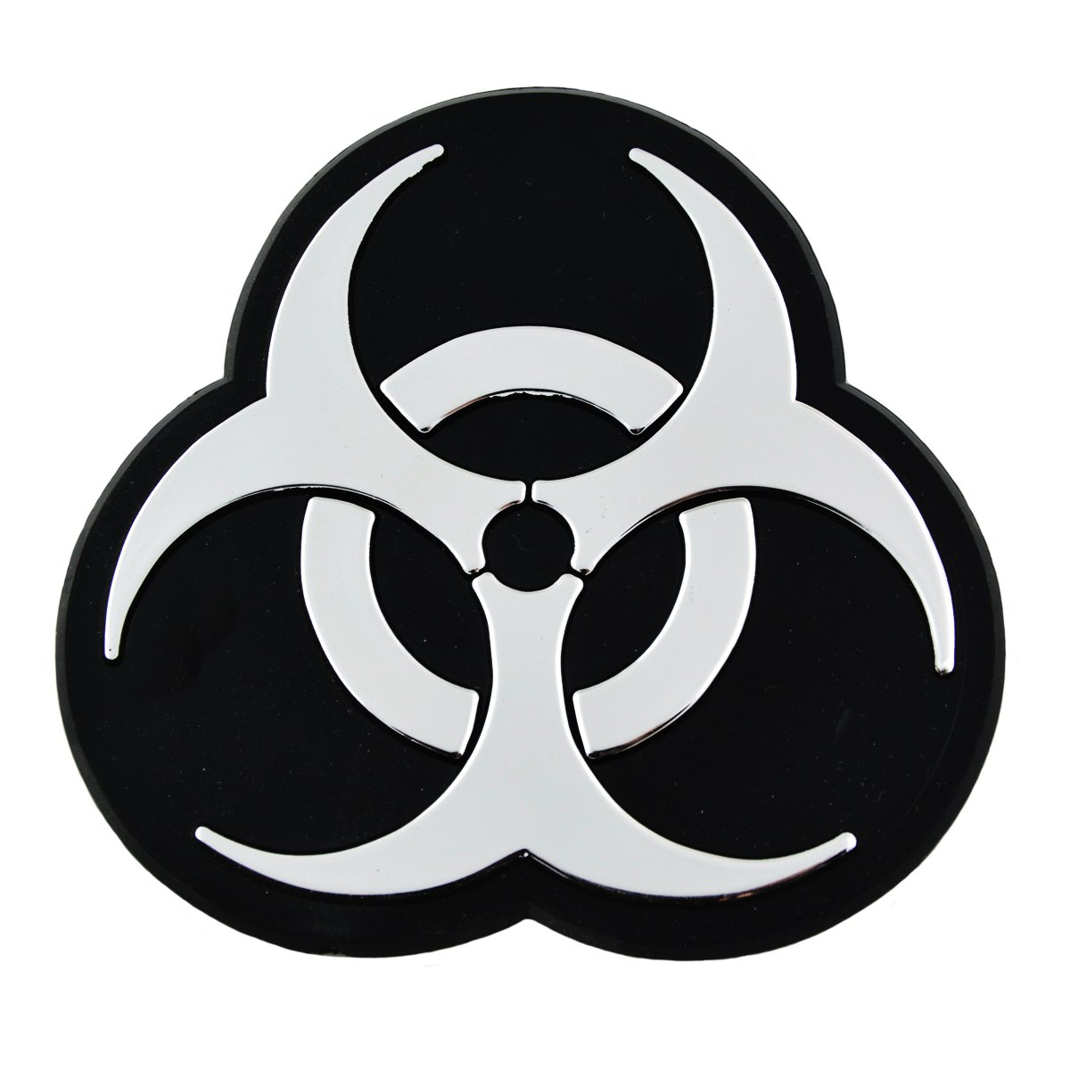 4 x 4 EvolveFISH EF-EMB-P-00001 Biohazard Chrome Auto Emblem
