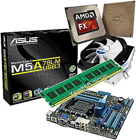 Upgrade Kit Asus M5a78l M Usb3 Motherboard For Desktop Pc With Amd Fx 4300 Processor 8 Gb Ddr4 Ram And Ati Hd7450 On Chip Graphics Amazon Co Uk Computers Accessories
