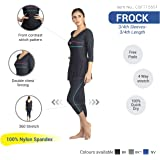 Champ Womens Swimwear Frock Style 3/4th Sleeves Leg with Pads - 0H