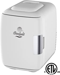 Cooluli Mini Fridge Electric Cooler and Warmer (4 Liter/6 Can): AC