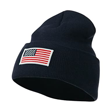 Image Unavailable. Image not available for. Color  USA Flag Patch Cuff  Beanie ... 23e28e341c2