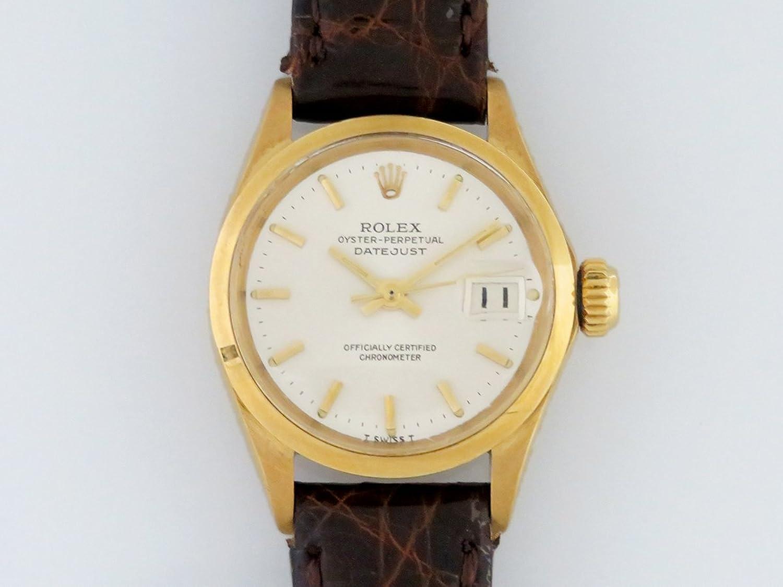 ロレックス ROLEX デイトジャスト ホワイト文字盤 レディース 腕時計 【中古】 B077S4YK4N