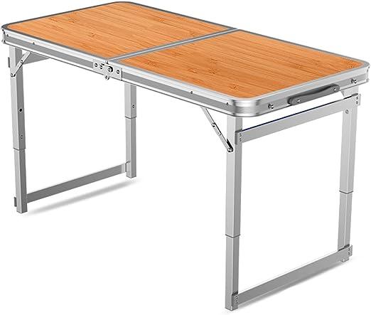 YXF Mesa Plegable Metal Mesa y sillas Plegables portátiles - con ...