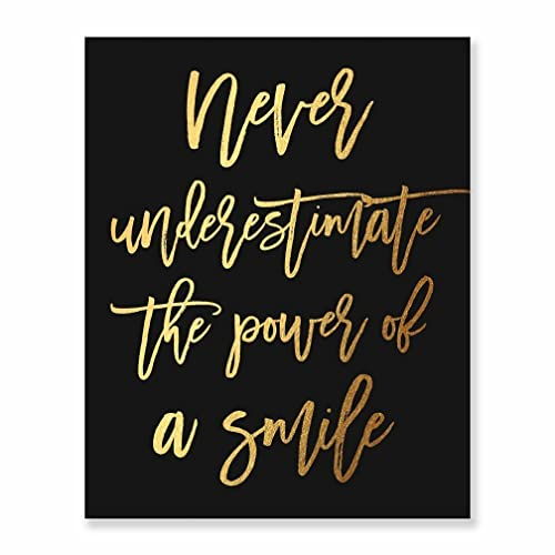 Amazon.com: Home, Office Wall Art Decoration Never Underestimate the ...